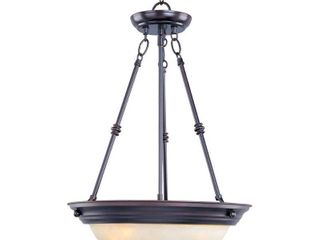 Maxim lighting 5845WSOI Three light Wilshire Glass Up Pendant  Oil Rubbed Bronze
