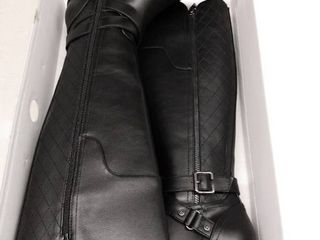 Womens G By Guess Haydin Wide Calf Knee High Boots  Black  Size 6MWC