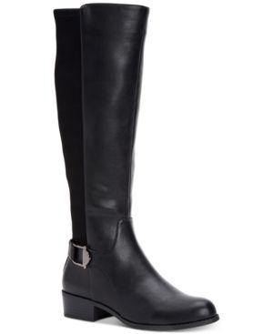 Alfani Women s Step  N Flex Kallumm Wide Calf Boots  Created for Macy s Women s Shoes