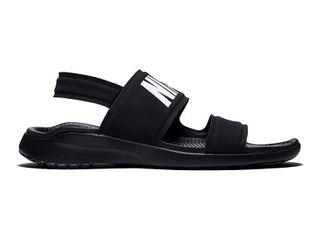 New Nike Women s Tanjun Sandal Black White 9