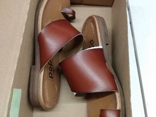 Pop Madelena Brown Sandals  Size 6 5