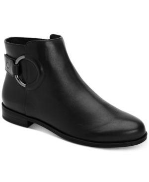 Alfani Women s Step  N Flex Avvia leather Booties  Created for Macy s Women s Shoes