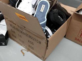 Box of Miscellaneous Mismatched Shoes