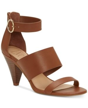 Inc Gavi Strappy Cone Heel Dress Sandals  Created for Macy s Women s Shoes