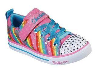 Girls  Skechers Twinkle Toes Sparkle lite Magical Rainbows Sneaker