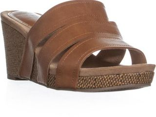 Womens Juliaa Slip On Wedge Sandals  Coffee  Size 11M