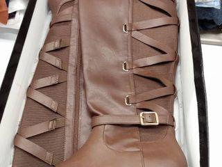 Womens TS35 Veronika Wide Calf Riding Boots  Cognac  9 W US