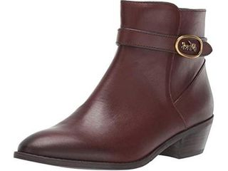 Coach Womens Dylan HC BTE SDE Suede Closed Toe Ankle  Walnut leather  Size 6 5 X