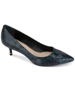 Kenneth Cole New York Morgan Kitten Heel Pumps Women s Shoes  Size 6 5M