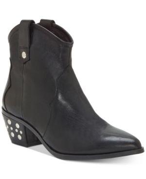 Inc latisha Western Studded leather Booties  Size 7M