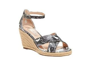 Nanette lepore Womens Quirky leather Peep Toe Casual Ankle Strap Sandals  Size 8M