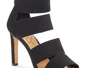 Jessica Simpson women s Cerina Anchors Down Blue Open Toe HIgh Heel Sandals  Size 6M