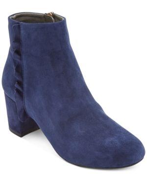 Rockport Women s Total Motion Oaklee Ruffle Ankle Boots Women s Shoes  Size 8W
