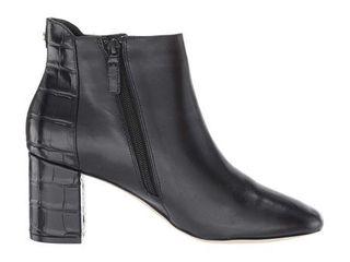 Cole Haan Nella Bootie 65 mm Black leather Black Croc Print  Size 9 5B