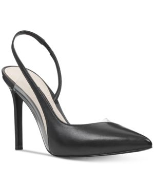 Women s Nine West Toffee Slingback Pointy Toe Pump  Size 5 5 M   Black