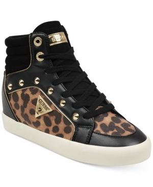 Guess Porcia High Top Sneakers Women s Shoes  Size 8M