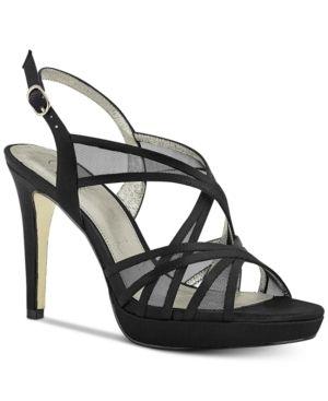 Adri Strappy Satin Platform Sandals  Size 9M