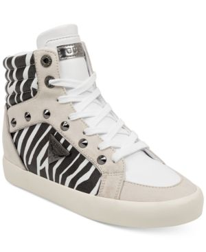 Guess Porcia High Top Sneakers Women s Shoes  Size 9 5M