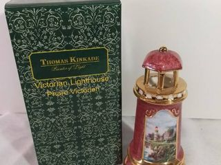 Thomas Kinkade 2004 Painter of light Victorian lighthouse Hand Painted Ceramic lighthouse light Fixture Corroded Everything Else in Tact