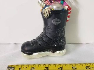 1997 Harley Davidson Biker Boot Ornament  Designed by Christopher Radko  Made in Poland