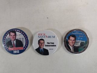 large Box Of Political Assorted Buttons