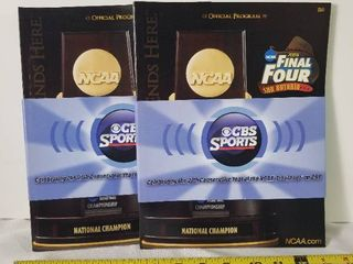lot of Two 2008 NCAA Final Four Official Program  San Antonio