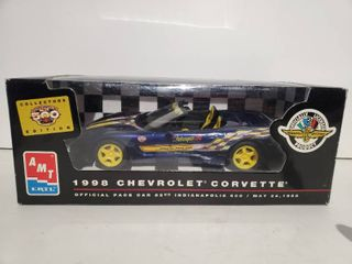 New AMT ERTl 8086 Promo Built Model Car   1998 Corvette   82nd Indianapolis 500  1 25 Scale Plastic Promo