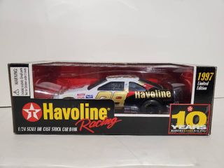 1997 Racing Champions Nascar  28 Texaco Havoline Racing Stock Car Bank 1 24  Die Cast