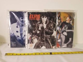 lot of 14 Official Elvis Catalogs In Plastic Sleeves
