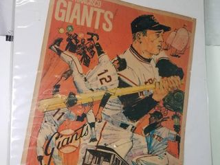 Vintage San Francisco Giants Poster  In Plastic Sleeve