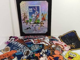 Small lot of Sports and Cartoon Themed Embroidered Patches for Various Fabrics