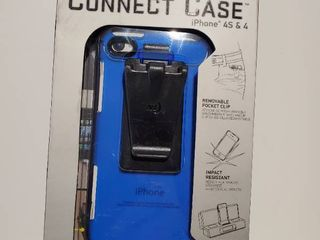 Connect Case Cell Phone Case for iPhone4 4S   Blue  CNT IP4 03TC