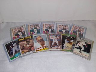 lot of 11 Tony Gwyn of The Padres Baseball Cards in Individual Plastic Sleeves