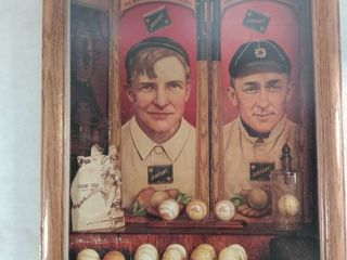 Vintage Baseball Picture Of Ty Cobb And Christy Mathewson