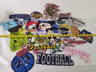 lot of Assorted Embroidered Patches