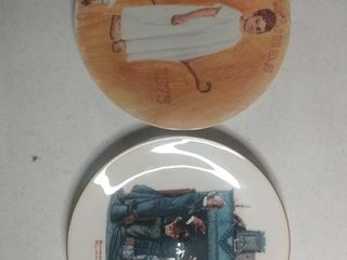 lot Of 2 Decorative Christmas Plates From Norman Rockwell
