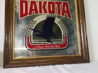 Vintage Dakota Wheat Beer Etched Mirror  Framed  Great Condition