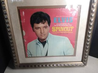 Vintage Elvis Presley Album Cover Framed