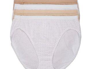 Hanes Womens Ultra Soft Hi Cut Brief 5 Pack Style 43HUCC 8 xl