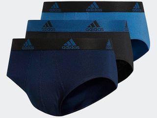 Men s adidas climalite Performance Briefs  Size  large  Blue 2 pair