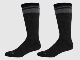 Dickies Men s Artic Cotton Thermal Boot 2pk Crew Socks   Black Gray 6 12