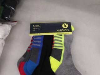 6 pair performance quarter socks l 9 11
