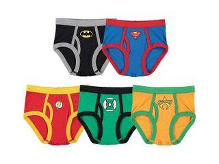 Dc Comics Justice league  Cotton Briefs  little Boys   Big Boys missing 1 pair  only 4 pair included