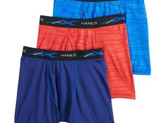 Boys Hanes 3 Pack X Temp Performance Boxer Briefs  Boy s  Size  Medium