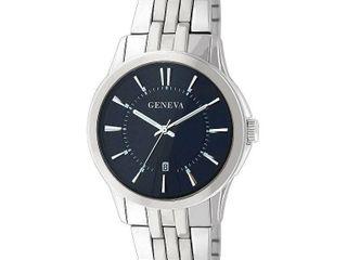 Geneva Mens Silver Tone Bracelet Watch Jry1771sl