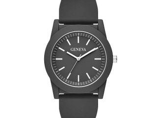 Geneva Mens Black Strap Watch Fmdjm595