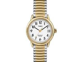 Timex Women s Easy Reader Date 25mm Two Tone Stainless Steel Expansion Band Watch