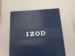 Izod Mens Watch Slim Case leather Band In Box