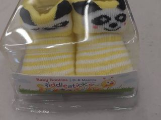 Fiddlesticks Baby Booties For Infant Girl 0 6 Months