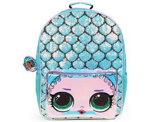 l O l  Surprise  16  Kids  Mermaid Backpack   Blue Purple